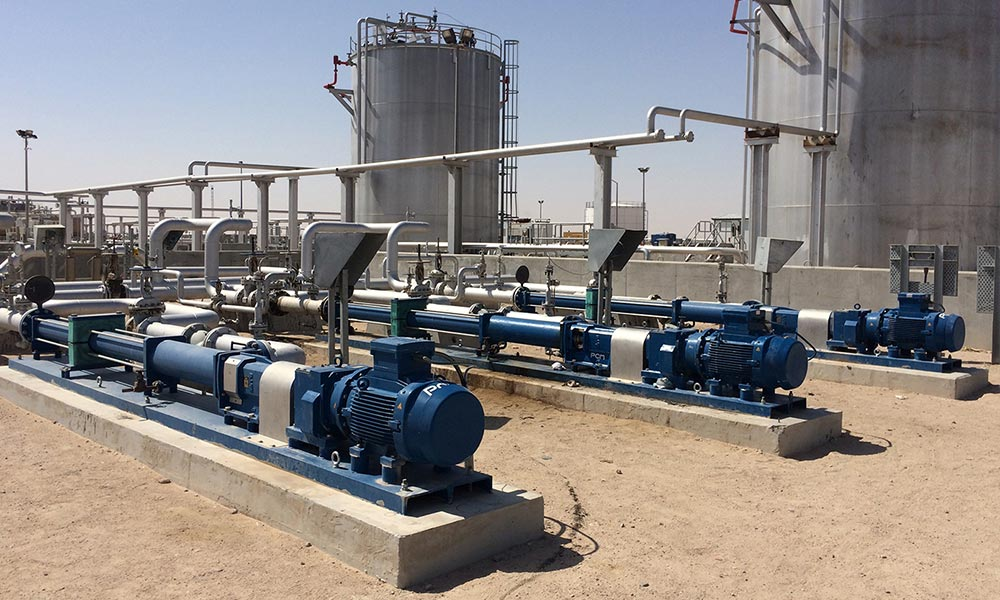 PCM multiphase booster pumps for high back pressure