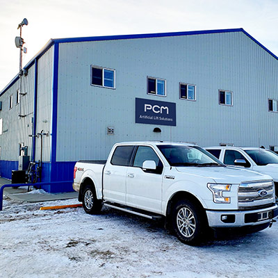 PCM service center in Macklin, Saskatchewan, Canada