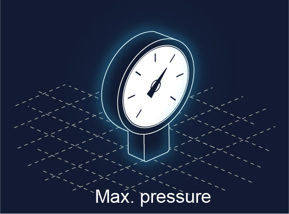 ALS technologies comparison - Max pressure